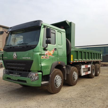 xe ben howo 4 chân V7G 2018 thùng vuông 6,5m