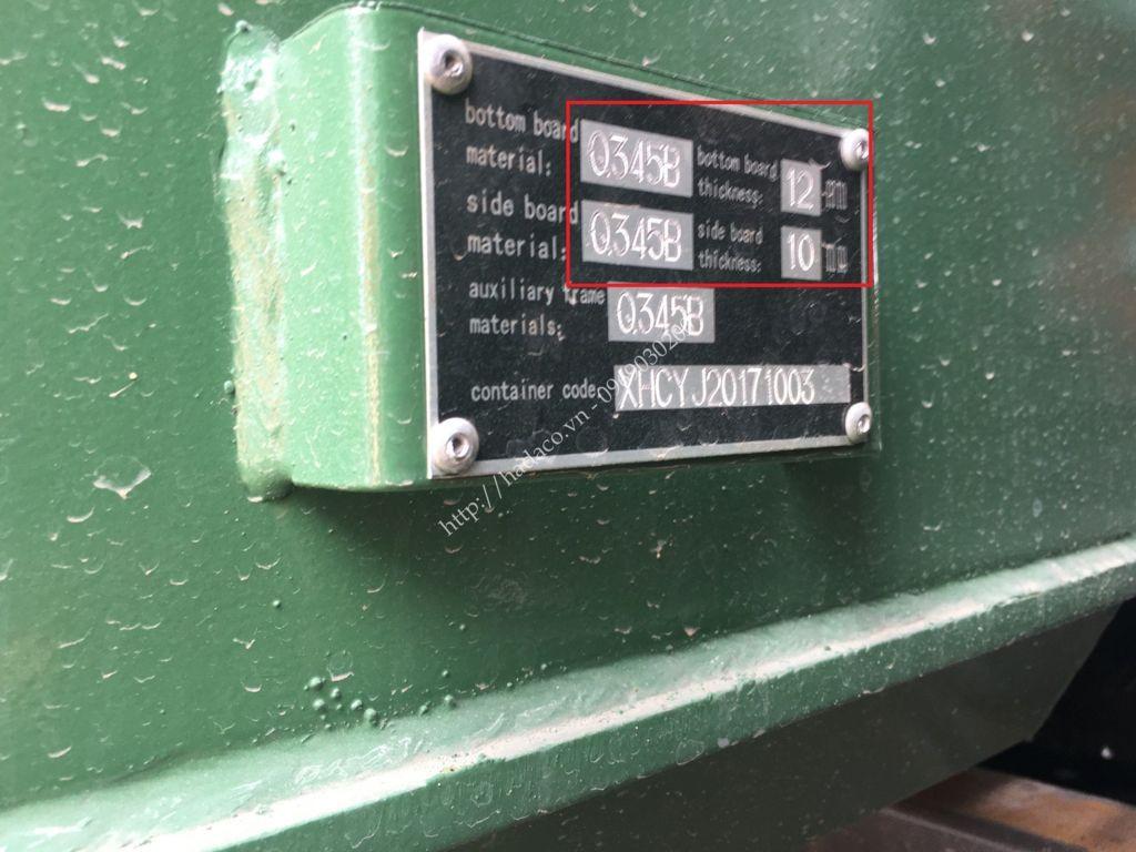 Mác thép thùng ben