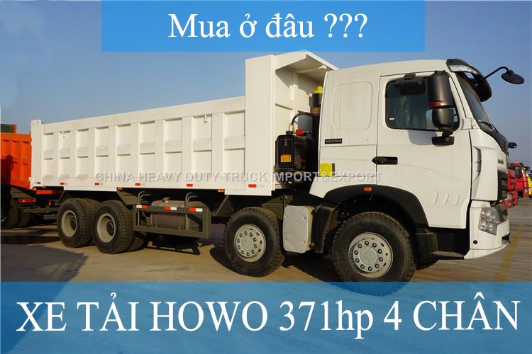 xe tải howo 371 hp 4 chân mua ở đâu